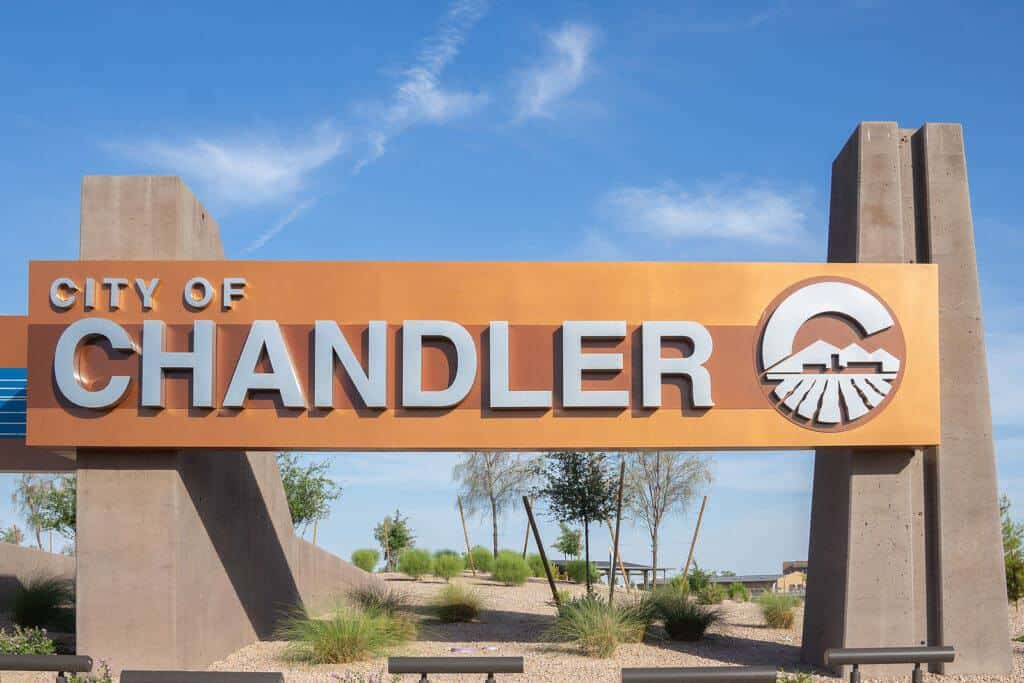 Welcome to Chandler sign